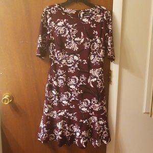 Ivanka Trump burgundy floral dress